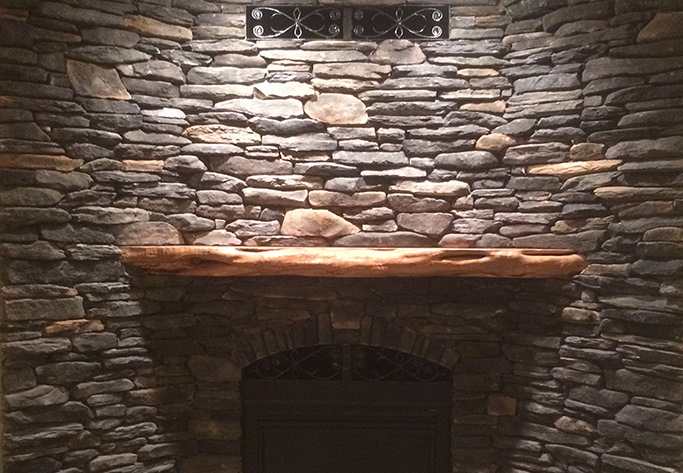 anchorage stone fireplace