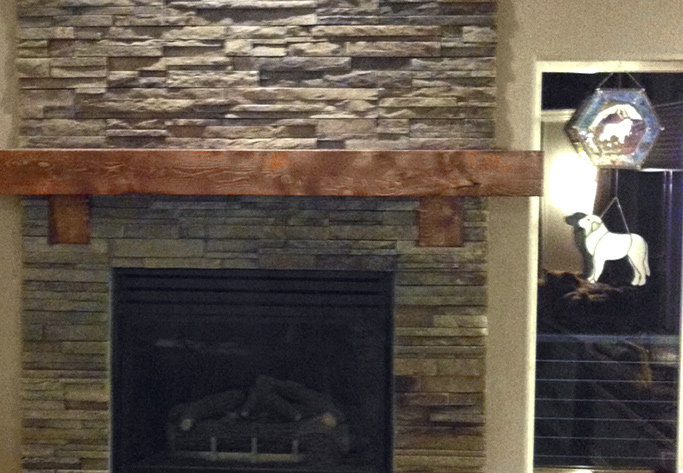 ledgestone fireplace anchorage
